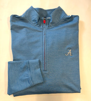 johnnie-O Vaughn Quarter Zip with Script A Logo (2 Colors)