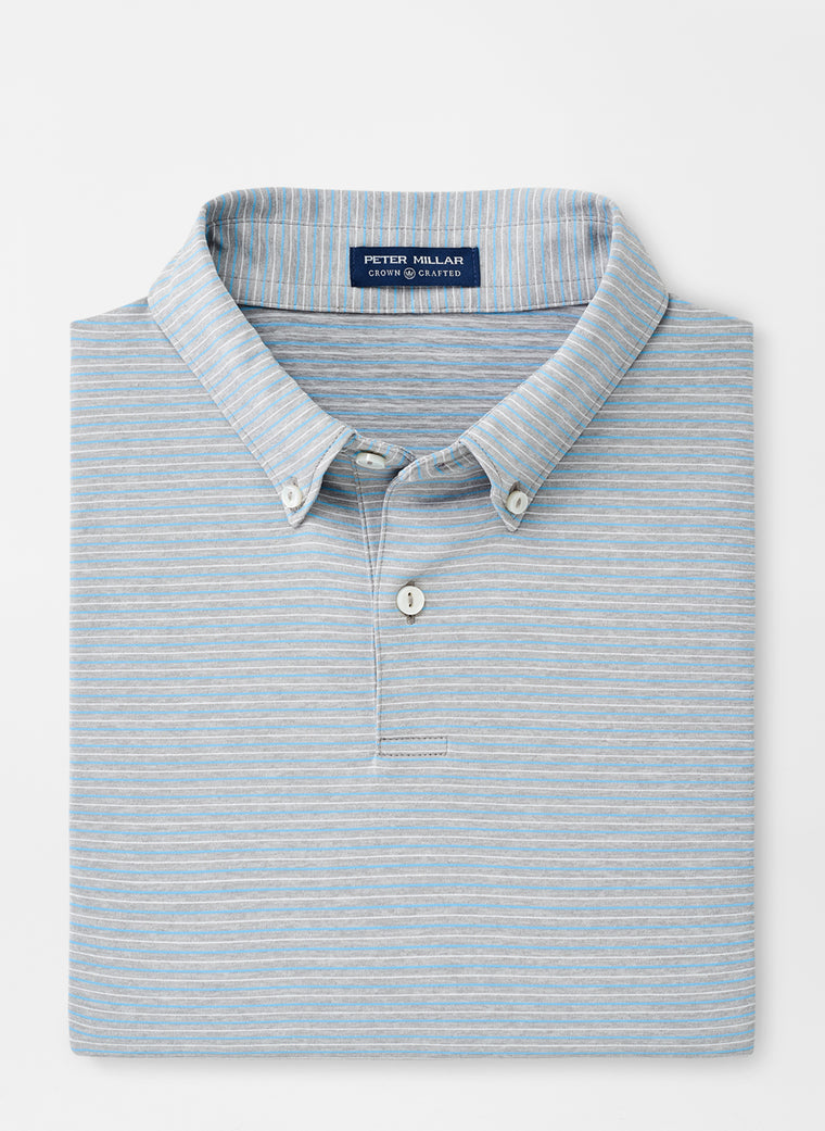 Peter Millar Crown Crafted Sonny Performance Polo with Button Down Collar