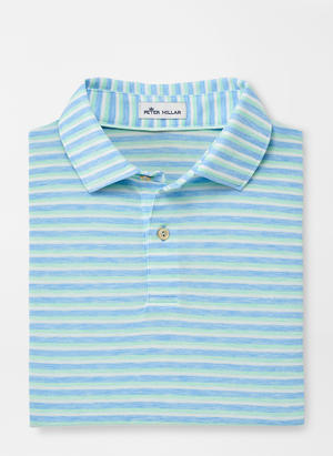Load image into Gallery viewer, Peter Millar Dri-Release Natural Touch Stripe Polo - Multi