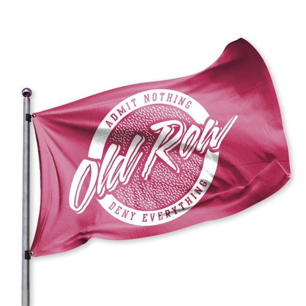 Old Row Retro Circle Flag- Crimson