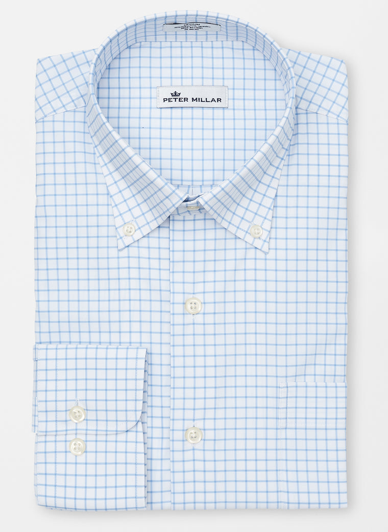 Peter Millar Crown Sport Window Pane Sport Shirt Non-Logo