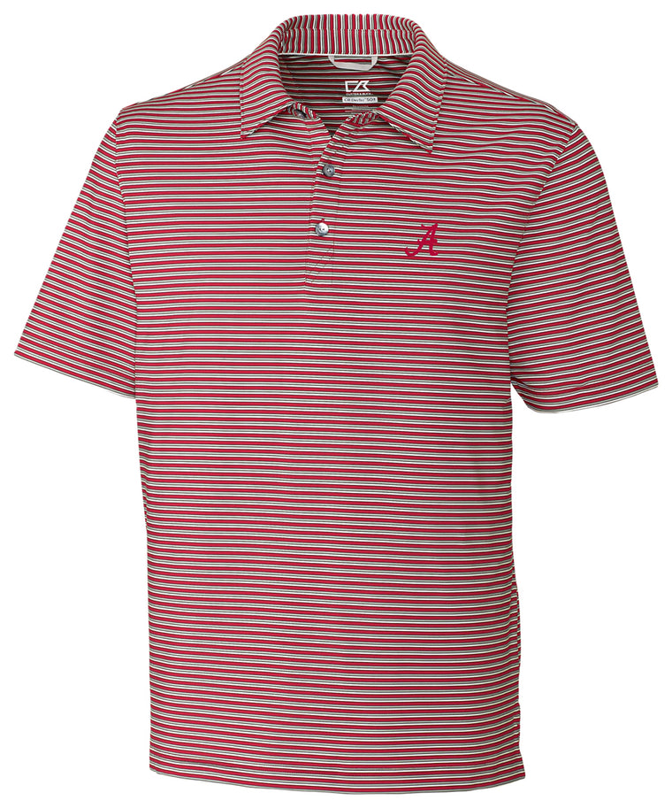 Cutter & Buck Division Stripe Polo with Logo (2 Colors)