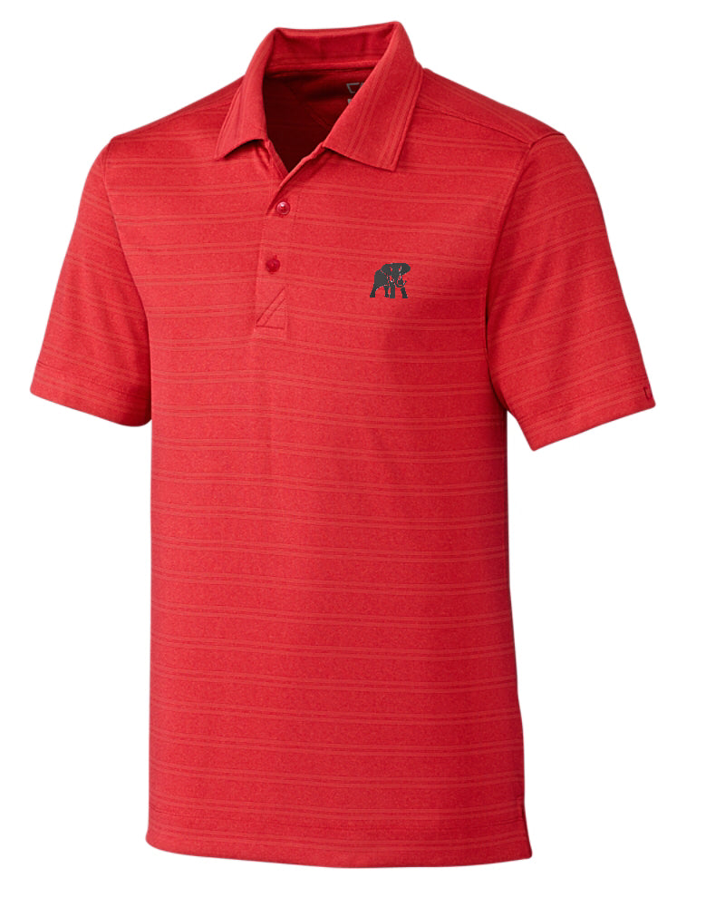 Load image into Gallery viewer, Cutter & Buck Interbay Melange Stripe Polo with Logo