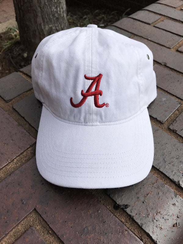 "Canvas Ball Cap with Script ""A"""