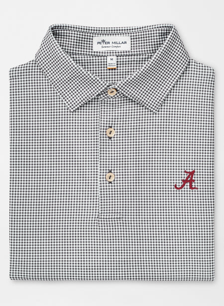 Peter Millar Greek Gingham with Script A Logo