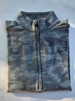 johnnie O Rodney Camo Quarter Zip with Alabama Logo