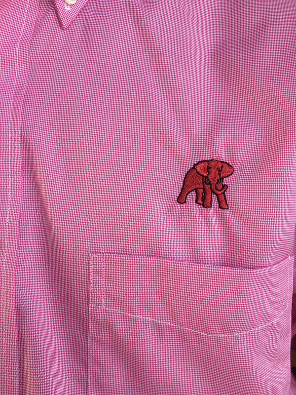 Wrinkle Free Crimson End-on-End - Elephant Wear or Script A Logo