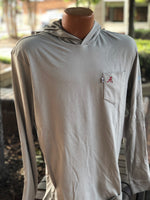 johnnie-O Eller Long Sleeve T-Shirt Hoodie with Alabama Logo