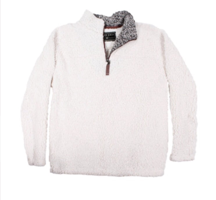 True Grit Frosty Tipped Pullover- Ivory
