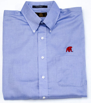 The Shirt Shop Wrinkle Free Royal Oxford Button Down with Logo (2 colors)