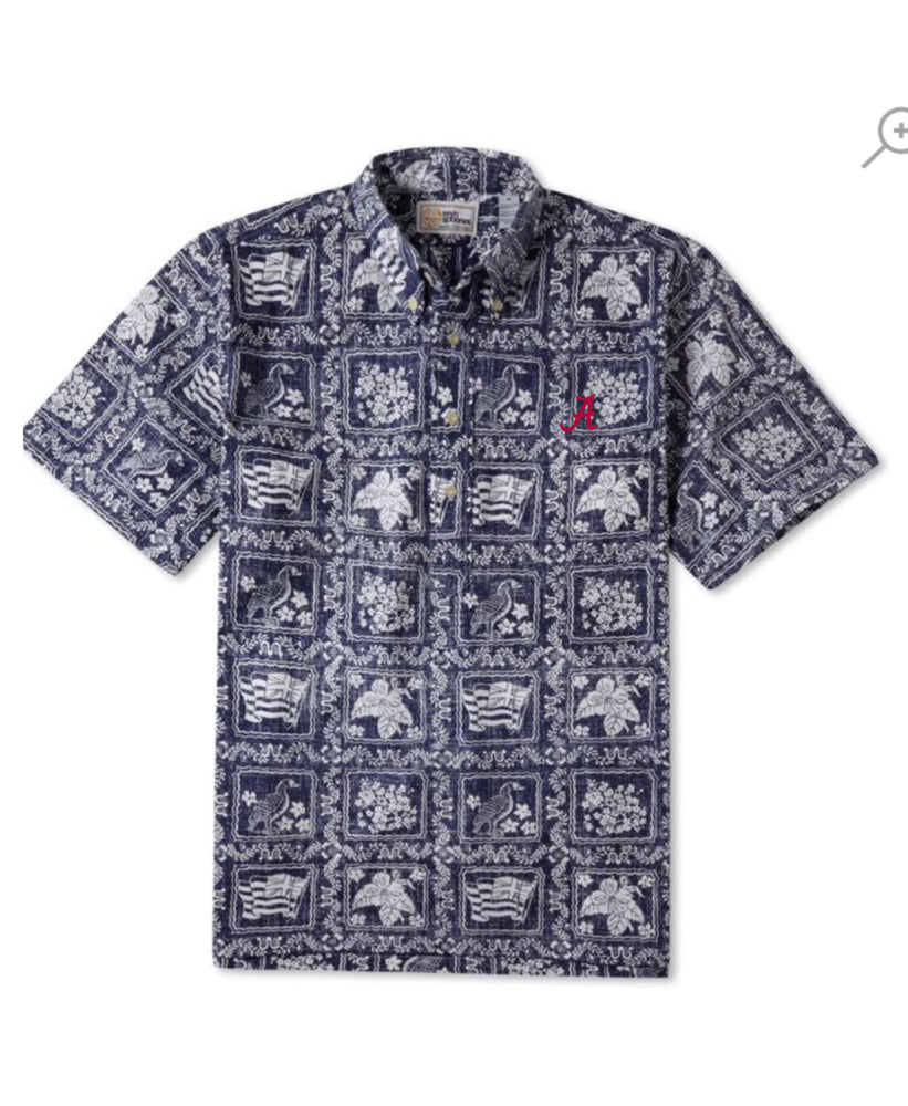 "Reyn Spooner Lahaina Sailor Classic Fit Pop Over with ""A"""