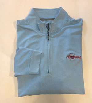 Load image into Gallery viewer, johnnie-O Vaughn quarter Zip with Alabama Script