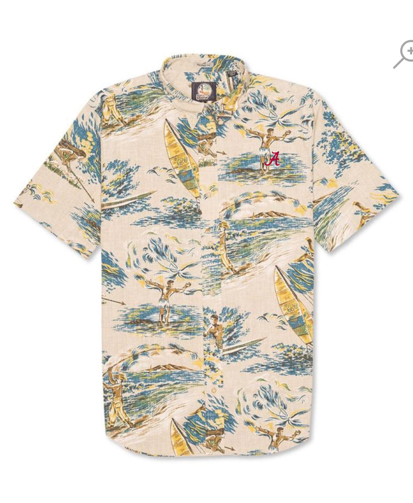 "Load image into Gallery viewer, Reyn Spooner Moana Medley Tailored Button Down with ""A"""
