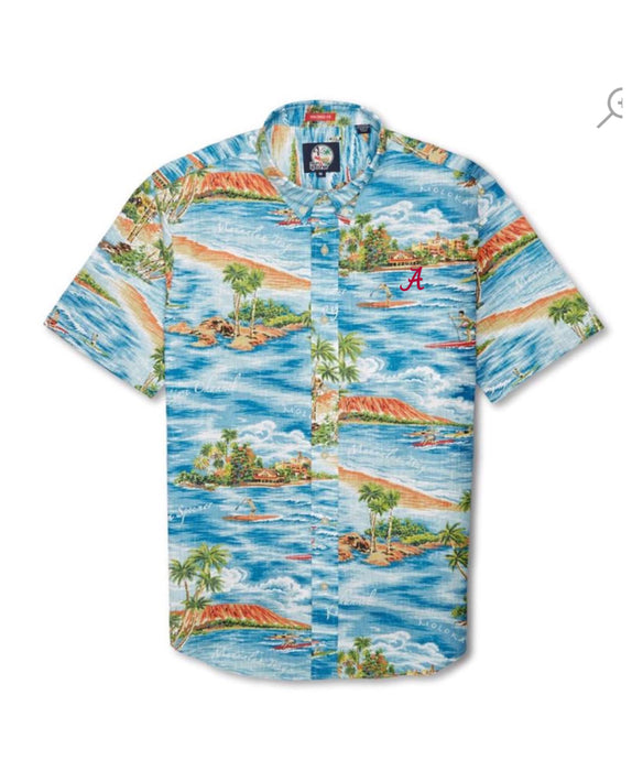 "Reyn Spooner Downwind Paddler Tailored Button Down with ""A"" (2 colors)"