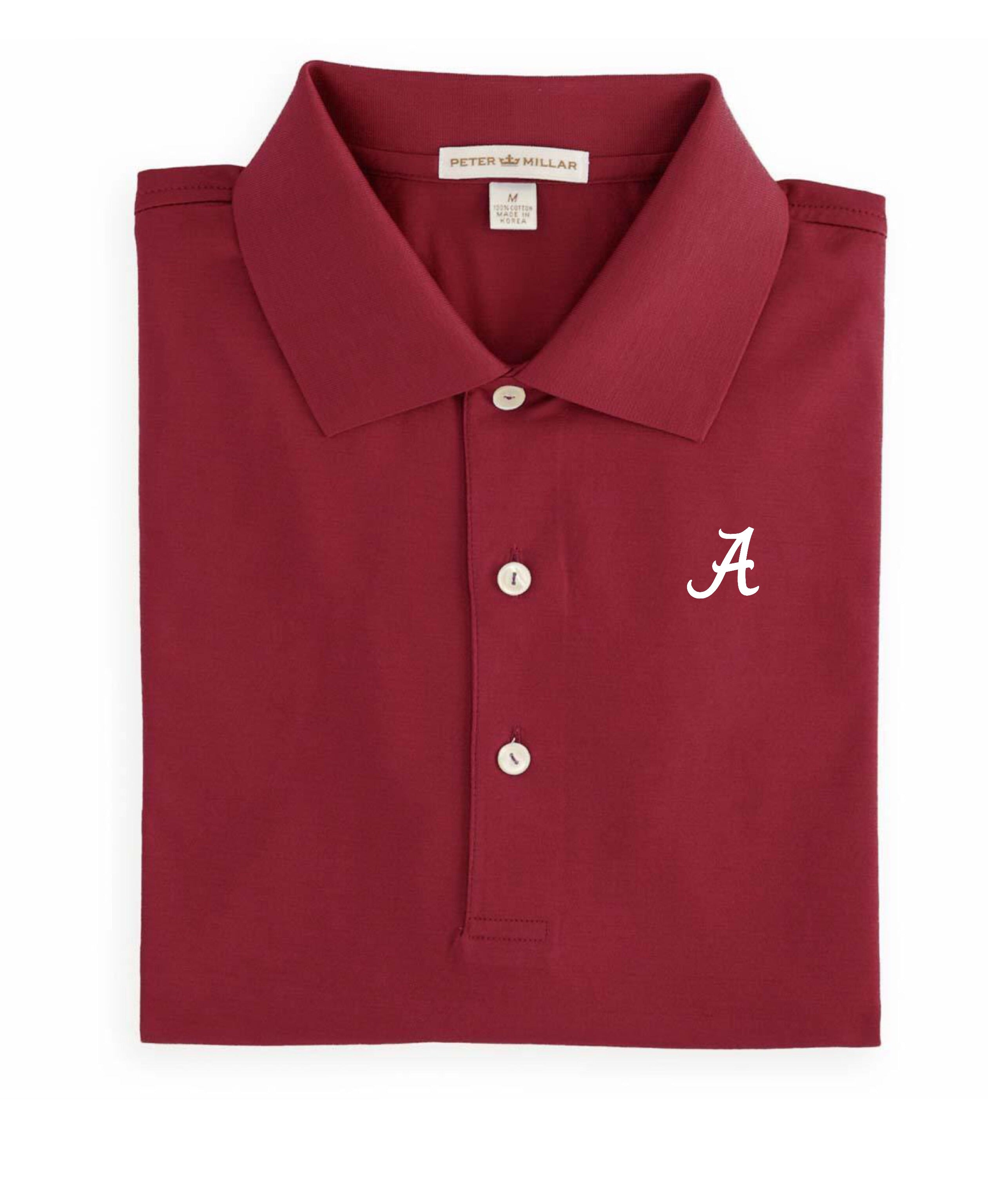 Peter Millar Crimson Cotton Knit Polo with Custom Logo