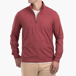 "Load image into Gallery viewer, johnnie-O Aston Micro Fleece Quarter Zip with ""A"""