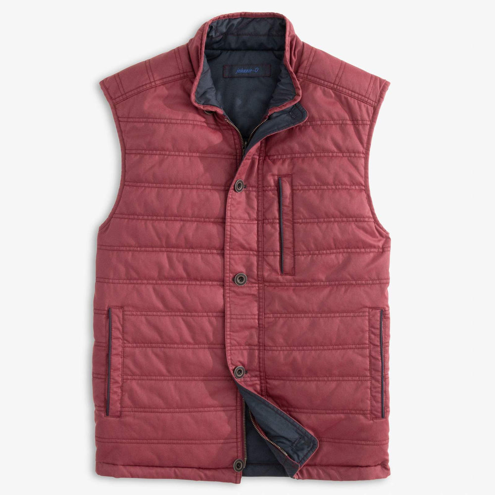 Johnnie O 2 Way Zip Reversible Vest