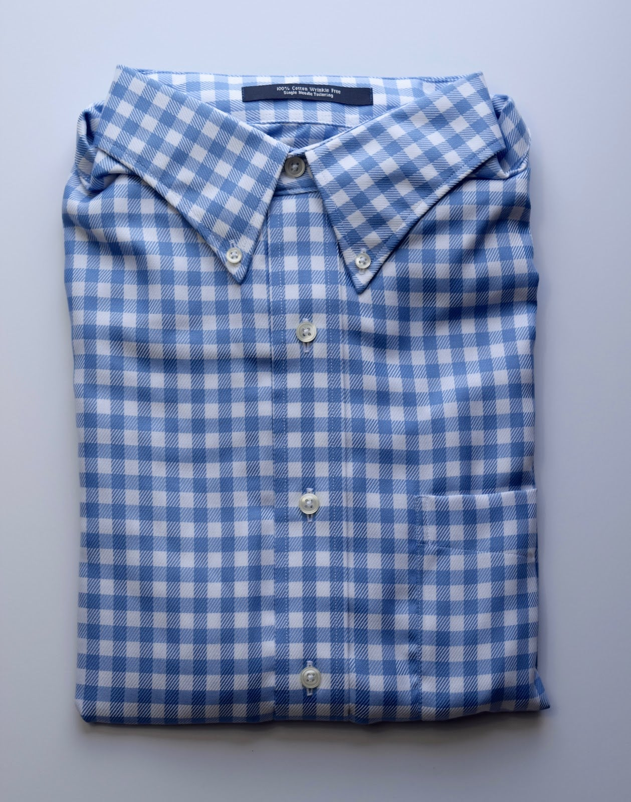 The Shirt Shop Wrinkle Free Jumbo Check - Blue