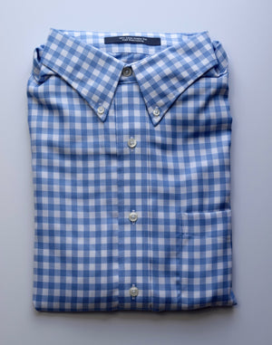 Load image into Gallery viewer, The Shirt Shop Wrinkle Free Jumbo Check - Blue