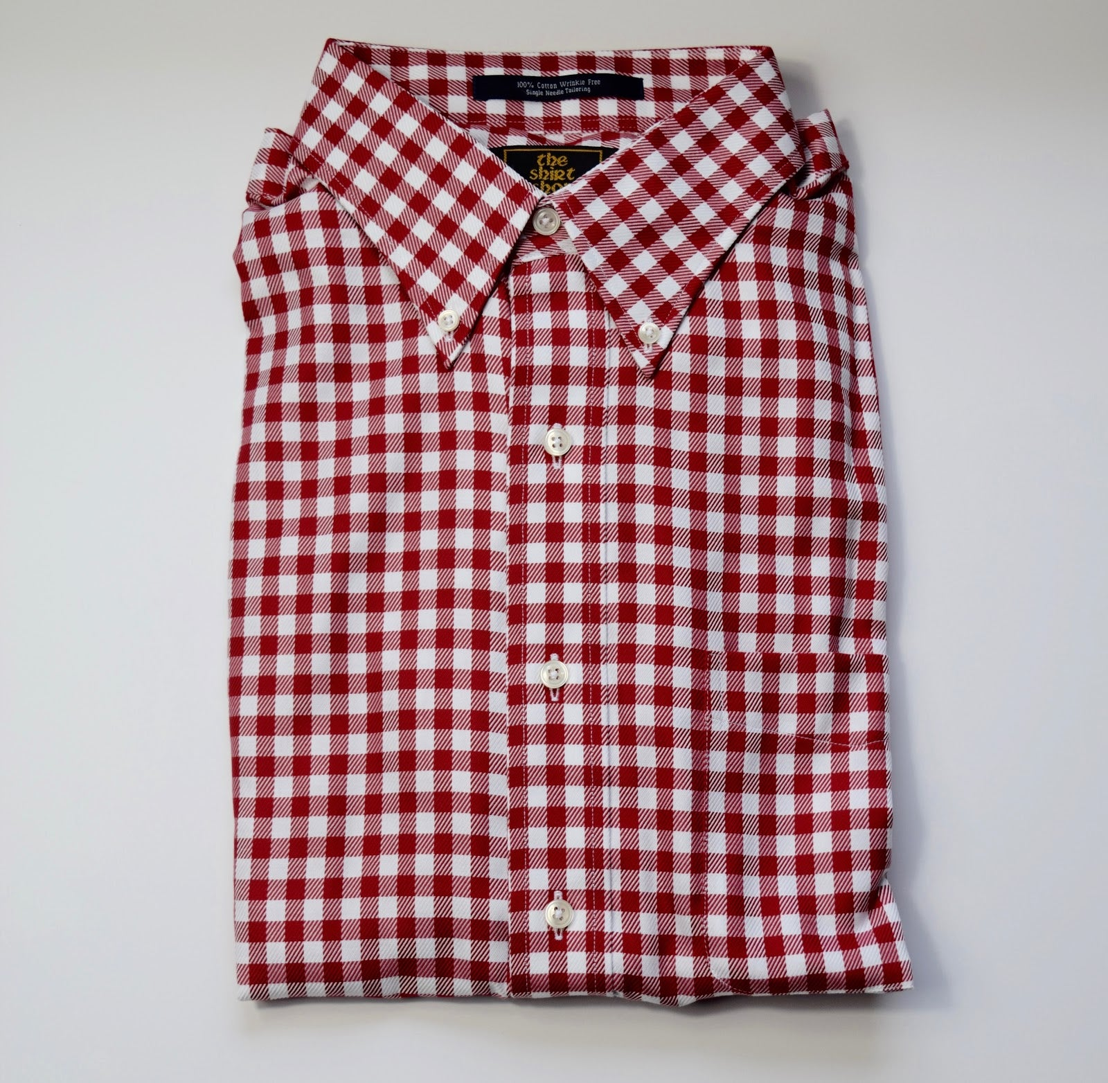 The Shirt Shop Wrinkle Free Jumbo Check - Red