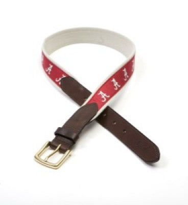 "Vineyard Vines Club Belt with Script ""A"" Logo"