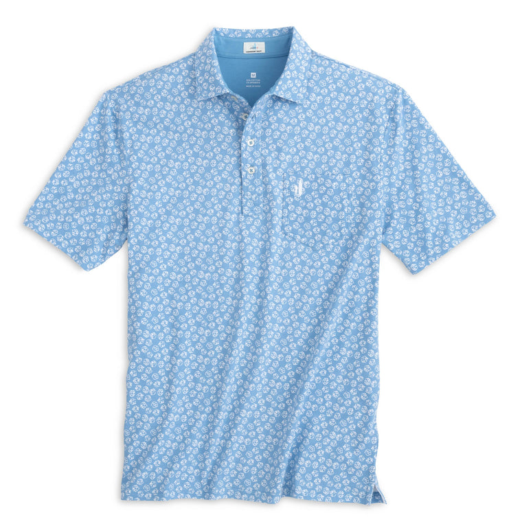 Johnnie O Kevin Printed Cotton 4 Button Polo