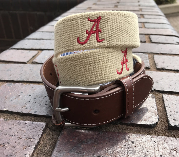 Peter Millar Logo Stitched Belt (4 Options)