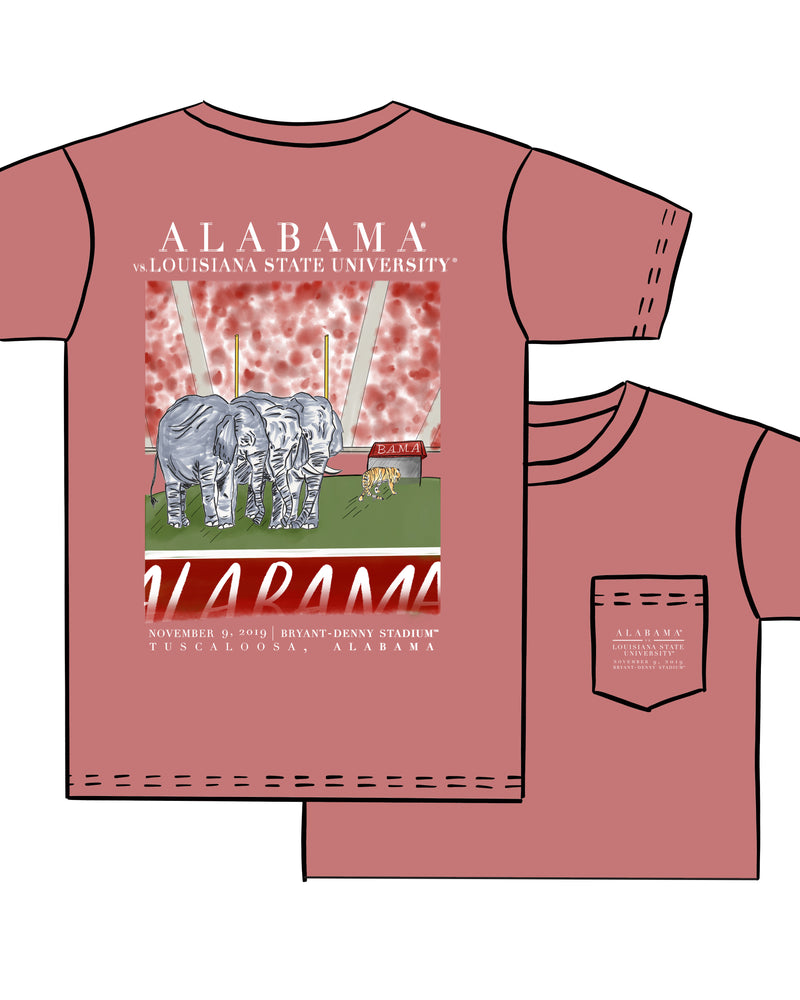 Load image into Gallery viewer, 2019 Rival Tee Shirt- Alabama vs LSU