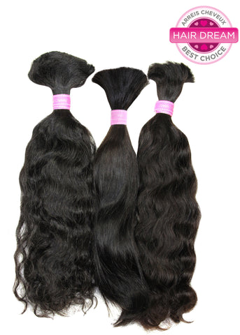 Picture of Colored Malaysian Natural Straight Bulk Hair