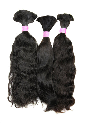 Picture of Colored Malaysian Deep Curl Bulk Hair