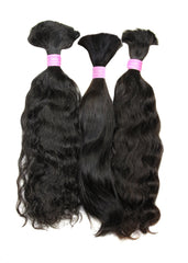 Colored Brazilian Deep Curl Bulk Hair