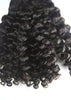 Colored Brazilian Deep Curl Clip-In Hair Extensions