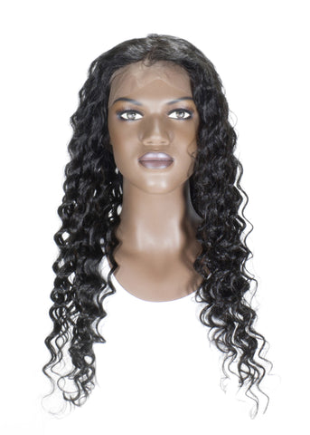 Picture of Virgin Indian Deep Wave Full Lace Wig
