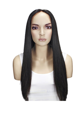 Picture of Virgin Brazilian Natural Straight Full Lace Wig