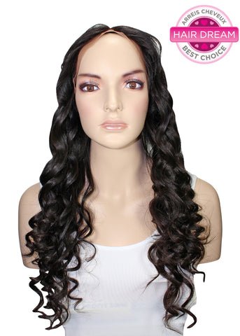 Picture of Virgin Brazilian Deep Wave Full Lace Wig