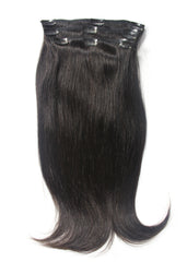 Colored Brazilian Natural Straight Clip-In Hair Extensions