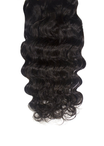 Picture of Virgin Brazilian Deep Wave Weft Extension- Ready to Ship