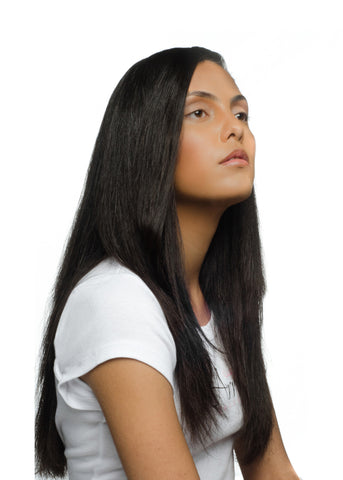 Picture of Virgin Brazilian Natural Straight Weft Extension