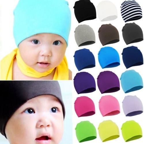 8c6f40410 Fashion New Born Baby Unisex Boy/Girl Soft Cotton Beanie Hat Knitted Kid  Winter Warm Cap