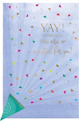 Confetti Horn Congratulations Card From Us Happy Buddha