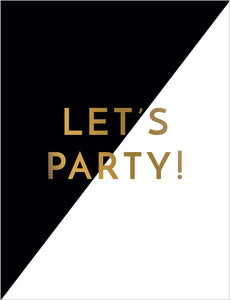 Birthday - Let's Party Card