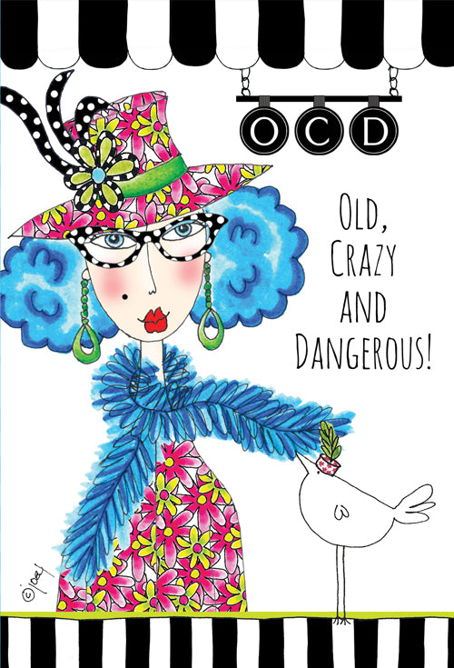 Birthday Card Old, Crazy and Dangerous! Dolly Mama