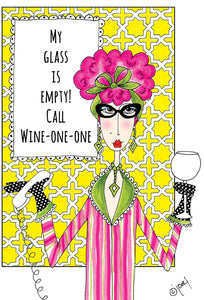 Birthday Card Call Wine-One-One Dolly Mamas - Cardmore