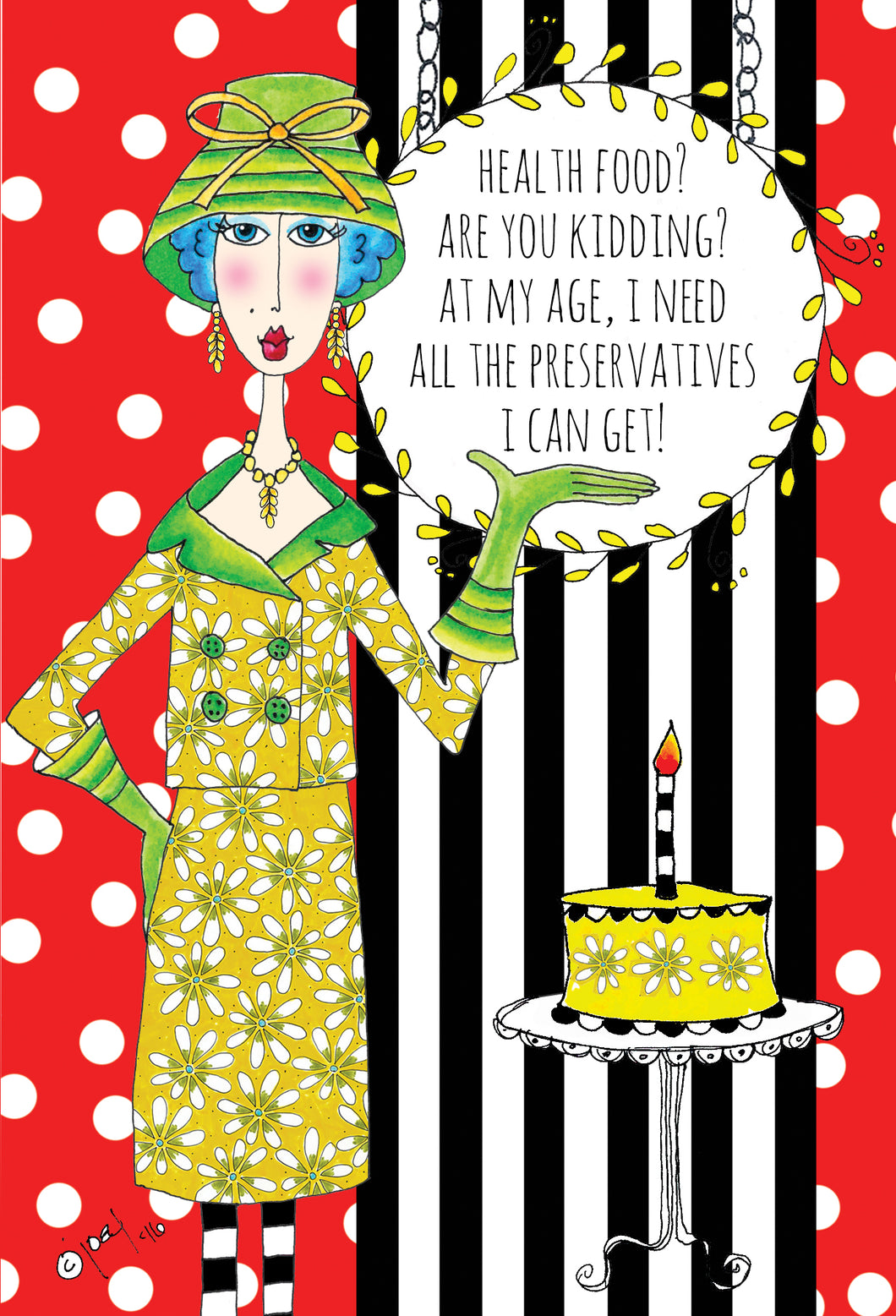 Birthday Card Health Food? Dolly Mamas - Cardmore