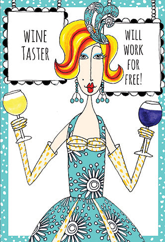 Birthday Card Wine Taster Dolly Mamas - Cardmore