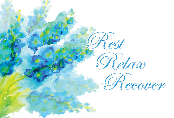 Get Well Card Rest, Relax, Recover - Cardmore