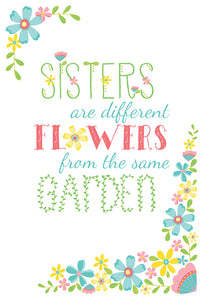 Birthday Sister Card Same Garden
