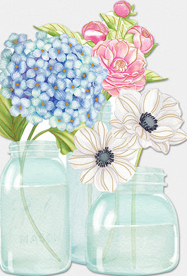 Friendship Card Flowers in Mason Jars Sienna's Garden Nicole Tamarin - Cardmore