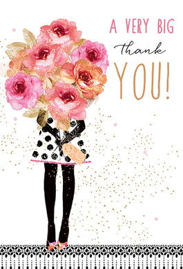 Thank You Card A very big thank you Sara Miller