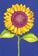 Birthday Card Sunflower Two Twenty Two